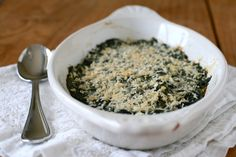 baked spinach.