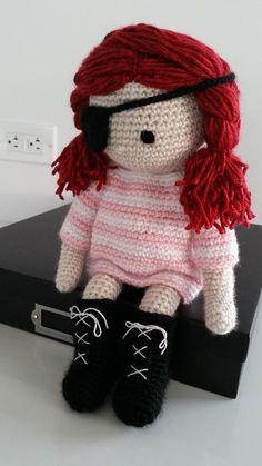 Pirate crochet doll, based on Isabelle Kessedjian's book: My Crochet Doll.