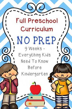 Preschool Curriculum: Everything they need to know before Kindergarten! - Teaching Preschool - Full Preschool Curriculum: No Prep! Everything your child needs to know before Kindergarten! Pre K Curriculum, Homeschool Preschool Curriculum, Preschool Prep, Preschool Lesson Plans, Preschool Learning Activities, Free Preschool, Curriculum Planning, Preschool Printables, Lesson Planning