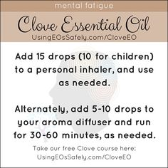 Using Clove Essential Oil Safely Clove Essential Oil, Are Essential Oils Safe, Natural Essential Oils, Young Living Essential Oils, Essential Oil Blends, Mold Exposure, Feeling Under The Weather, Healing Oils, Aroma Diffuser