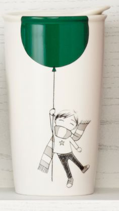 Collectible. Adorable. New Starbucks Dot collection 'Green Balloon' mug—a great gift for anyone who likes smiling :)