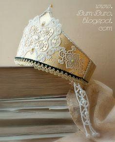Kokoshnik. Imitation of traditional Russian headdress. Бум-Бюро