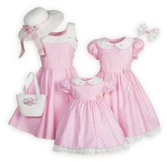 Polka Dots and Rosettes Sister Dresses made in the USA exclusively for The Wooden Soldier.
