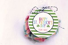 Happy St. Patrick's Day Labels   St. by CupcakeWishesStore on Etsy
