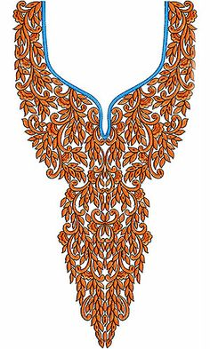 Applique Tops | Tunics | Dresses | Neck Embroidery Design