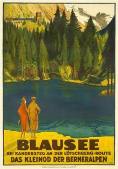 → Hodel, Ernst poster: Blausee