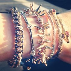 Today's Stella & Dot arm party.  Create your own at www.stelladot.com/robinadams