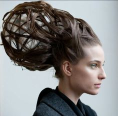 Avant garde hair, I like how the hair gives a textured look and reminds me of the shape of Giger's alien.
