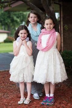 Flower girls and junior bridesmaids, sisters!!