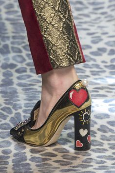 Dolce & Gabbana, Fall 2017 - The Beautiful and Bizarre Shoes on the Milan Runway - Photos