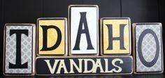 University of Idaho Vandals Wood Block Set by TheBenchT on Etsy, $16.50