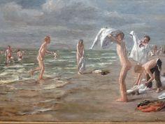 Boys bathing by Max Lieberman at Neue Pinakotek, Munich
