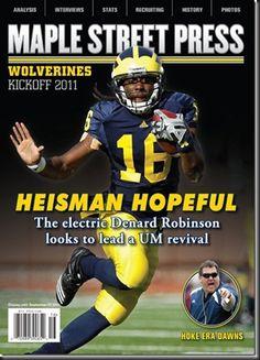 Sports Magazine Covers: Denard Robinson