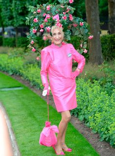 Royal Ascot 2013 - Race goer, Florence Claridge chose this elaborate head piece, inspired by beautiful fuchsia bushes