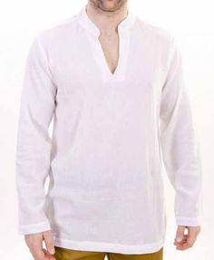 Mens Nehru collar Short Kurta Shirt in by Indiancustomemade