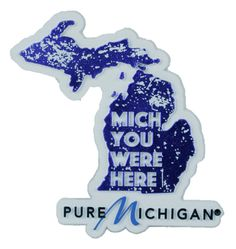 Get this funny magnet for your out-of-state friends and family to remind them to come visit Michigan!