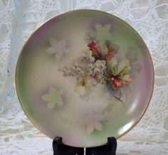 Dresden China Plate by Cottonridgevintage on Etsy, $12.00