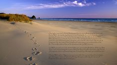 Religious Christian  Love Religion Sand Lord Footprints Wallpaper