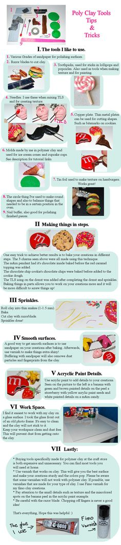 Polymer Clay Tips and Tricks   http://madizzo.deviantart.com/art/Polymer-Clay-Tips-and-Tricks-271667843