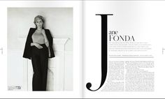 duJour magazine spread  //// the title travels throughout the composition.                                                                                                                                                                                 More