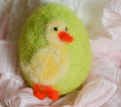 Needle Felted Easter Egg with Felted by thefeltedcottage on Etsy, $15.00