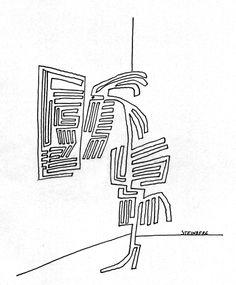 Fu-Berlin Sonderforschungsbereich 626 Teilprojekt C13 Sinnliche Erfahrung und symbolische Reflexion in Medien ästhetischer Erfahrung Scary, Cartoonist, Illustration, Drawings, Artist, Triangle Tattoo, Saul, Line Drawing, Saul Steinberg