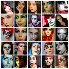 Halloween makeup creations by girls from www.sminkerica.com