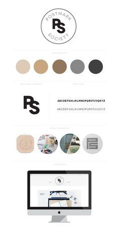 postmark society | branding + web design by kory woodard