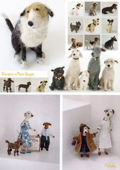 Domenica More Gordon - Felted wool dogs