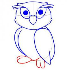 How to Draw an Owl For Kids, Step by Step, Animals For Kids, For ...