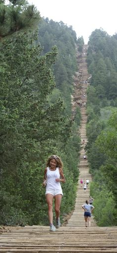 The Manitou Incline near Colorado Springs, Colorado is said to be one of the most challenging and unique trails in the Country. Olympic athletes and military personnel train on this vertical wonder...