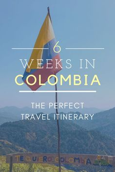 The Perfect 6 Week Colombia Travel Itinerary. This is a complete guide to Colombia which includes all the best places to go and things to do. Backpacking South America, Backpacking Asia, South America Travel, Colombia Travel, Asia Travel, Oregon, Best Places To Travel, Travel Alone, Culture Travel