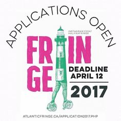 DEADLINE APRIL 12 From @halifaxfringe  Calling all local national and international artists!We are first-come first-served  April 12th! Get your applications in and remember you can always BYOV (bring your own venue!).  Get in touch if youve got any questions/special requests/needs/to say hi ( director@atlantcifringe.ca). Weve presented theatre music stand up comedy DJs workshops kids shows sing alongs dance puppetry improv sketch comedy talk shows spoken word live reading and more and more…