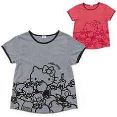 Sanrio Hello Kitty adult Tshirt heather Red From Japan New ** You can find out more details at the link of the image.Note:It is affiliate link to Amazon.
