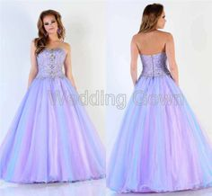 2014 New Arrival Elegant Prom Dresses With Beads Handmade Ball Gown Long Corset Bodice Prom Dress Crystal Graduation Dress $139.60