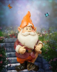 Miniature garden gnome to dig away in your fairy gardens.
