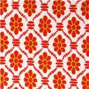 weißer Blumen Stoff mit Muster clementine Michael Miller