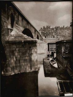 """Eugène Atget / """"Le Pont Marie, Paris"""", 1912"""