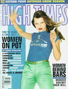 """Milla Jovovich doing a High Times cover during her """"Dazed and Confused"""" movie promo period  High Times - November 1994"""