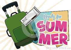 Illustration about Green travel bag with fly ticket ready to adventure in this summer. Illustration of destination, departure, suitcase - 73479814 Travel Bag, Ticket, Map, Adventure, Illustration, Green, Summer, Summer Time, Location Map