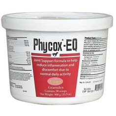 Phycox EQ 960 grams (30 scoops) by Phycox. $46.00. Arthritis can be a painful condition for many horses. There are two major forms of arthritis. Rheumatoid arthritis is a common form of arthritis which involves inflammation of the synovial membrane. The membrane thickens and synovial fluid accumulates. The pressure causes pain and tenderness.  The most common form of arthritis, osteoarthritis, is a degenerative joint disease that is far more common than rheumatoid arthritis. ...