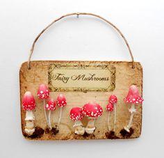 1:12 scale miniature fairy witch wizard magical mushrooms toadstools wall sample by 64 tnt (Loredana Tonetti)
