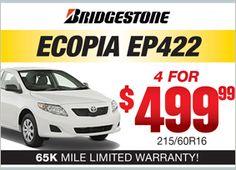 Bridgestone Ecopia EP422 - 4 for $499.99