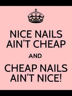 Nice Nails Ain't Cheap & Cheap Nails Ain't Nice.. :-) #hairandbeauty #nailedit #letsgrow
