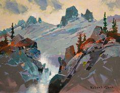 """""""High Tumult, Bugaboos,"""" by Robert Genn 11 x 14 - acrylic $2800 Unframed"""