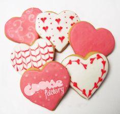 Galletas con forma de corazón con dibujos