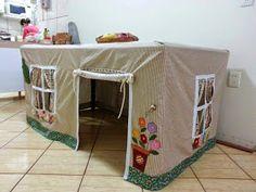 ARTE COM QUIANE - Paps,Moldes,E.V.A,Feltro,Costuras,Fofuchas 3D: ideia de toalha casa para mesa de jantar