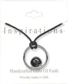 Circle With Mini Cross Necklace