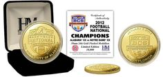 "$34.99  Alabama 2013 BCS National Champions Gold Coin  Congratulations to the University of Alabama Crimson Tide. Commemorate the Crimson Tides BCS Win with this minted 24KT Gold flashed 2012 BCS National Champions Coin is beautifully displayed in a 2.5"" x 2.5"" black velour collector's case. Made in USA Limited to 10,000 #Bama #rolltide #crimsontide #BCS #ManCave CLICK IMAGE TO BUY NOW"