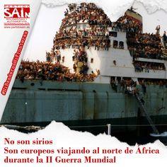 No son sirios. son europeos viajando al norte de África durante la II Guerra Mundial